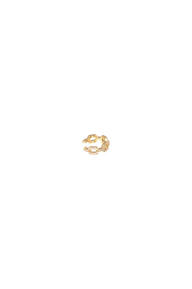 Chain ear cuff goud