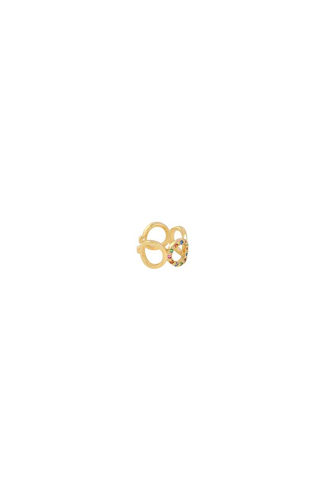 Zirkonia ear cuff cirkel goud