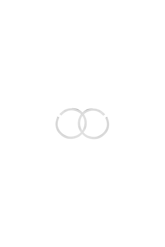 Big circles statement oorbel zilver