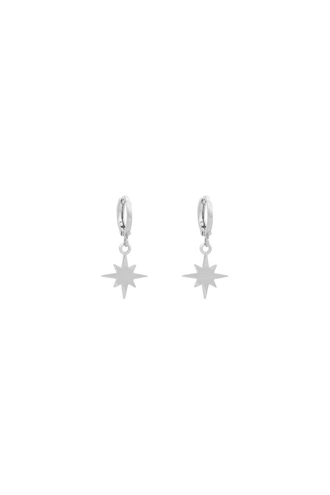 Universe oorhangers zilver met ster