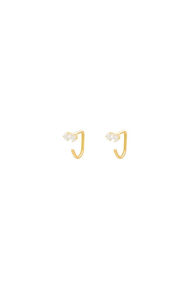 Gouden Zirkonia knopjes oorbellen