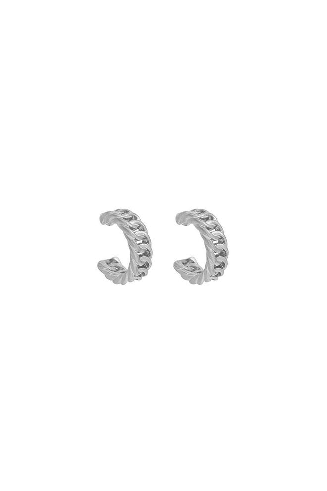 Zilverkleurige Chain oorringen